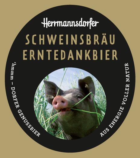 Etikett für das Schweinsbräu Erntedankbier