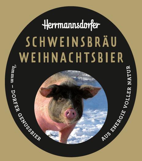 Etikett für das Schweinsbräu Weihnachtsbier