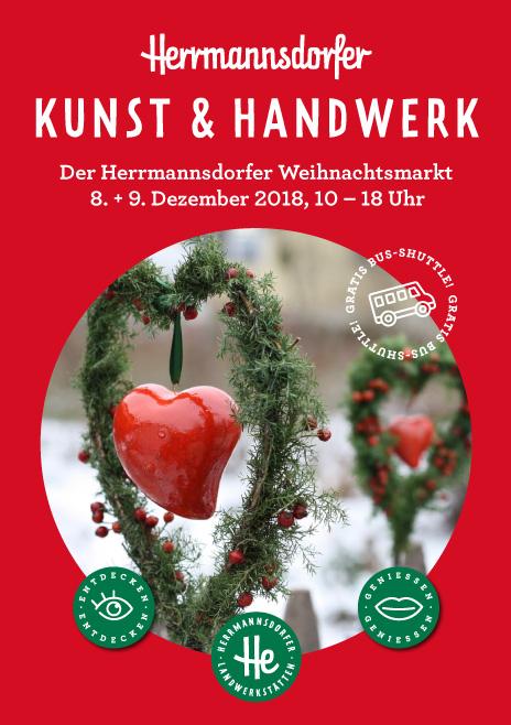 """Flyer """"Herrmannsdorfer Weihnachtsmarkt"""""""