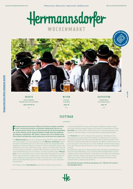 Herrmannsdorfer Wochenmarkt, Ausgabe September/Oktober 2018