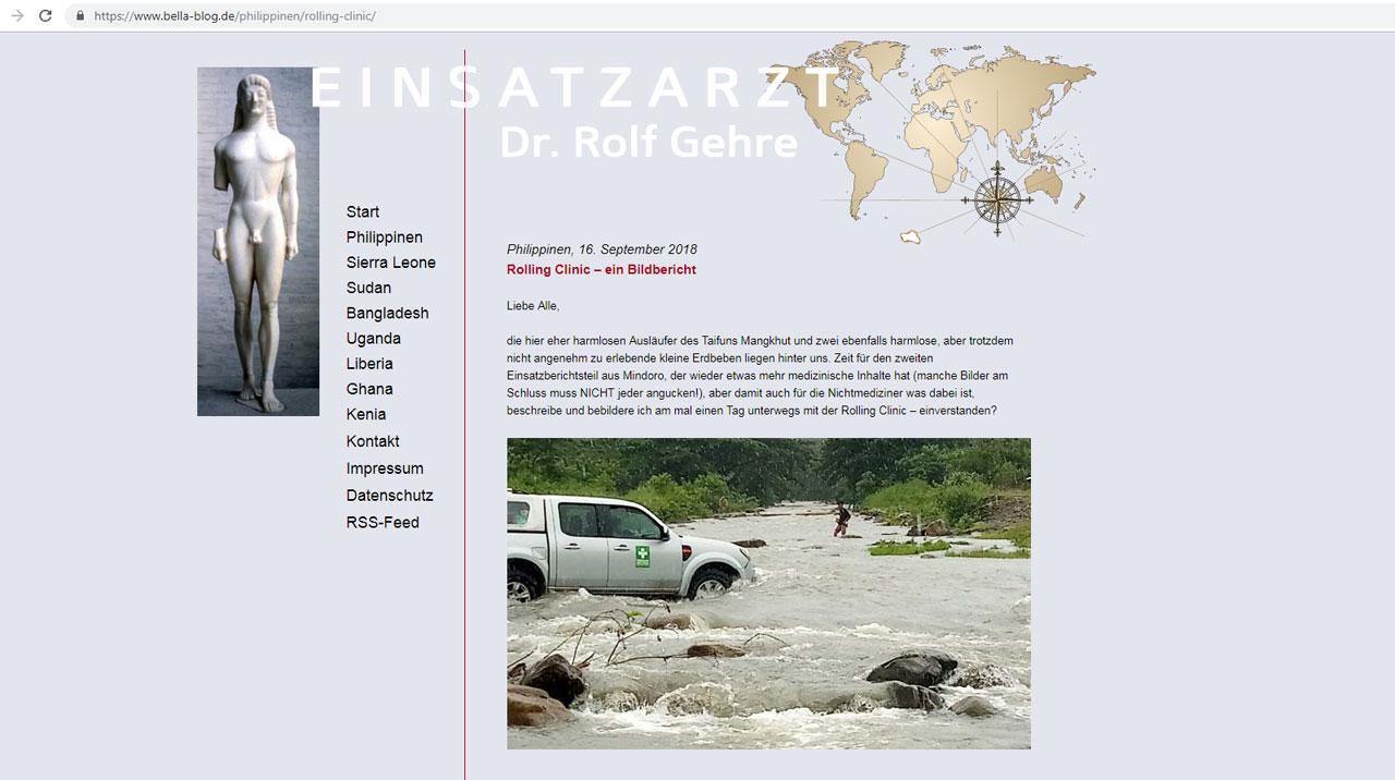 Blog von Dr. R. F. Gehre - Einsatznachrichten aus aller Welt