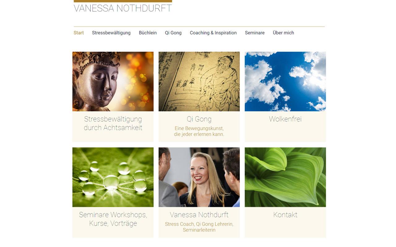Webseite Vanessa Nothdurft
