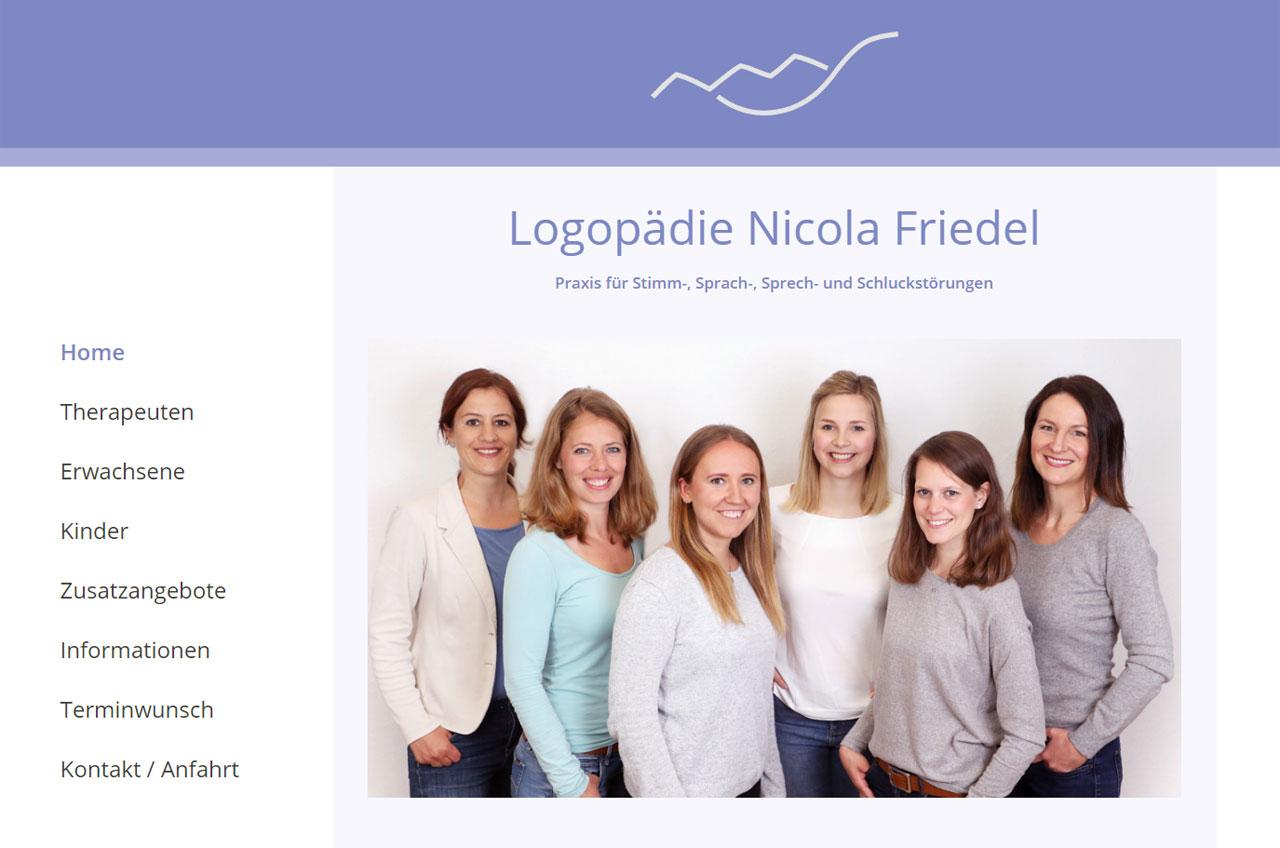 Webseite Logopädie Nicola Friedel