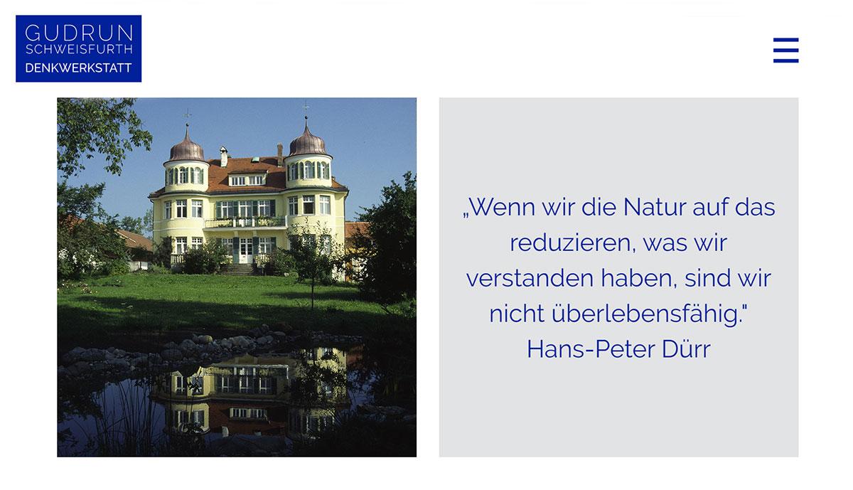 Webseite Denkwerkstatt Gudrun Schweisfurth