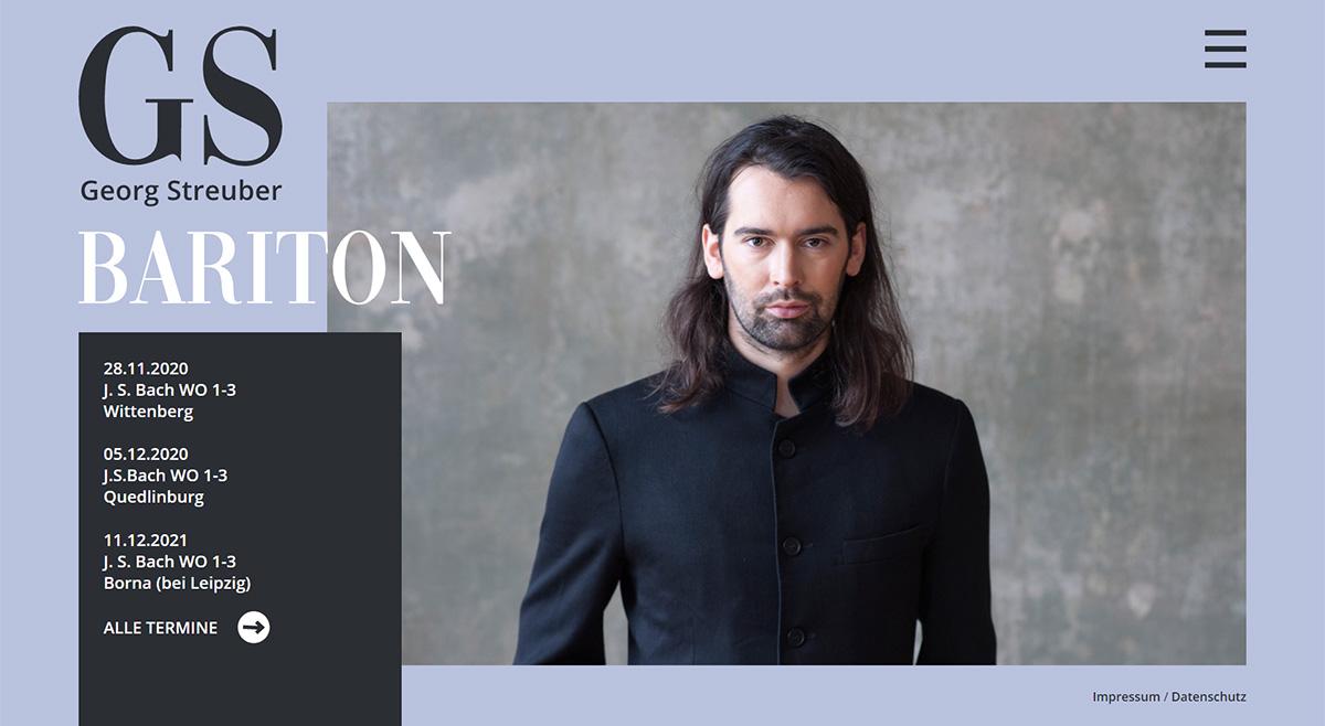 Webseite Georg Streuber